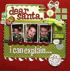 Christmas scrapbook layout | Christmas Scrapbook ...