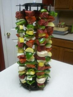 Cooking with my Ronco Rotisserie - Rotisserie Kabobs