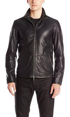 af14eb45725a0 John Varvatos Star USA Men s Zip Front Leather Jacket