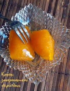 "Sweet tangerine spoon ""otherwise"" – cretang … – pastry types Greek Sweets, Greek Desserts, Greek Recipes, Cookbook Recipes, Cooking Recipes, Marmalade, Healthy Cooking, Preserves, Spoon"