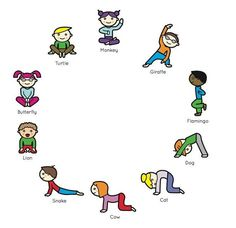 Yoga poses for mindfulness In this post, you can learn what is Mindfulness and Acceptance and how to reach that point. Do not be afraid to learn new techniques. Kids Yoga Poses, Yoga For Kids, Exercise For Kids, Gross Motor Activities, Physical Activities, Activities For Kids, Yoga For Pregnant Women, Chico Yoga, Preschool Yoga