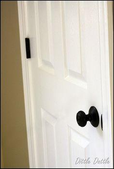 update gold hinges and door knobs