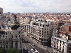 View of Madrid from Bellas Artes