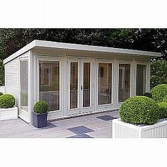 20 ft x 10 ft 7400 The Malvern Hanley is a fully double glazed and insulated garden office available from GBC #