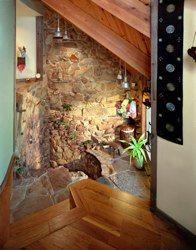 Sunken Stone Shower in the Ohio Stone House
