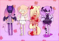 Adoptables Batch 6: CLOSED by Zombutts on DeviantArt