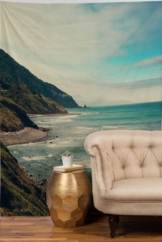 Catherine McDonald California Pacific Coast Highway Tapestry | DENY Designs Home Accessories