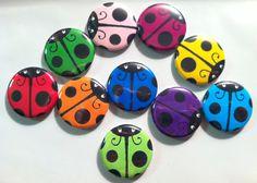 Ladybug Flatbacks, crafts, bottlecaps, scrapbooking cabachons on Etsy, $4.99