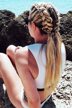 Surfer style + dutch braids + Summer look + TRESemmé