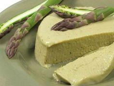 asperge, oignon, crème fraîche liquide, oeuf, beurre, poivre, Sel
