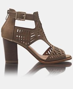 Block Heels - Taupe The Vamps, Block Heels, Taupe, Peep Toe, High Heels, Booty, Pairs, Elegant, Lady