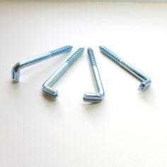 heavy duty screw in wall hooks zinc finish 65mm long suitable for heavier