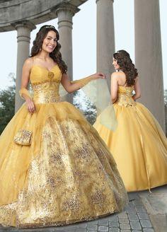Amarillo vestidos de 15 años