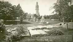 Lansdown Cemetery (Beckford's Tower in background) c.1912