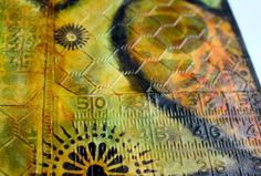 Art journal that started with embossed tags -- Kemperjournal10172013B