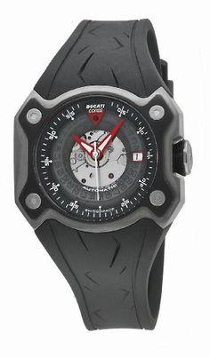 Ducati WATCHES DESMO 3H AUTO TIT CASE TIT IP BLACK BEZ CW0018 – Reloj de caballero automático, correa de goma color negro | Your #1 Source for Watches and Accessories