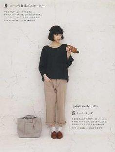 Simple Wardrobe - Tomomi Okawa - Japanese Sewing Pattern Book for Women - B1084 by myra