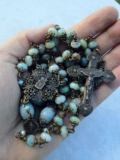 This is so beautiful. Reminds me of the rosaries that we saw when we went to Rome a few years ago. All Beautiful Catholic Beads: Old World Rosary