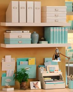 I really am not a fan of Martha Stewart, but she does make a good product. I'm a bit obsessed with this office line. Desk Accessories, Storage Boxes, Home Office, Home Offices, Office Accessories, Desk, Office Home, Storage Crates, Cubicles