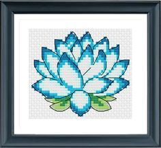 Lotus Cross Stitch Pattern Needle Pattern Instantly Download