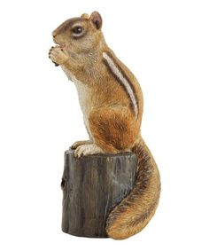 Bring a bit of the outdoors into your décor with this charming resin woodland creature figurine. W x H x DResinImported Wildlife Decor, Woodland Theme, Woodland Creatures, Chipmunks, Countryside, Fall Decor, Giraffe, Charmed, Animals
