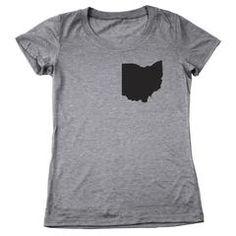Ohio Pocket Print (Black) Women's Tri-Blend T-Shirt