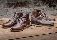 Crafted with the same attention to detail found in the original first crafted in 1914, the Wolverine's 1000 Mile Boot is the cornerstone of the collection. Made in America with classic Goodyear welt construction, the 1000 Mile Boot has been meticulously designed to replicate the original's aesthetic and is hand crafted to last.