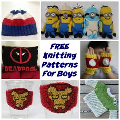 HUGE List of free knitting patterns for boys including hats, sweaters and toys - DIY knitting patterns