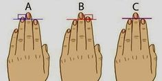 It is unbelievable how much you can discover about your personality by just comparing your ring finger to your index finger. Here are 3 ring and index finger combinations. You can find out which co… Finger Length Meaning, Finger Meaning, Index Finger, Handwriting Analysis, Something About You, Palmistry, Personality Types, Numerology, Decir No