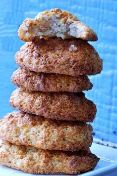 Clean Eating Almond Honey Cookies. A delicious treat from the oven! Find this and more at TheGraciousPantry.com.