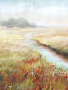 LUN TSE Meadow View I $850.00 original, oil on paper 18″ x 24″, unframed