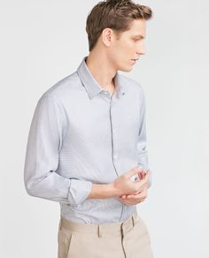 Image 1 of FANCY WEAVE SHIRT from Zara