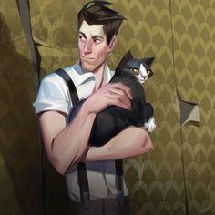 ArtStation - cat person, Alexandra Frantseva