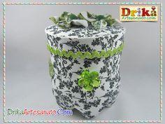 Artesanato com Garrafa Pet: lindos potes decorados com E.V.A.