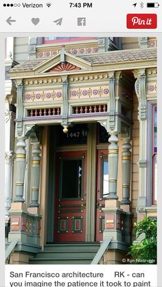 San Francisco Victorian, meticulously painted
