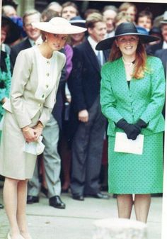 Sunday, September 24, 1988 (article from High Life):     Diana, Fergie, and Viscount Linley attend the wedding of Susie Murray-Phillipson to Alex Dolby in Uppingham in Leicestershire