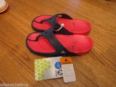 Girl's juniors Kids electro flip flops thongs sandals J 1 navy red NEW relaxed