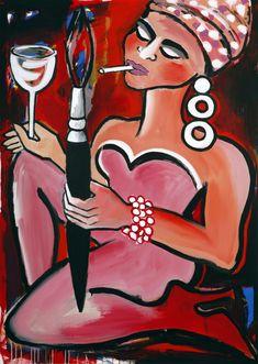Elvira Bach, Disney Characters, Fictional Characters, Disney Princess, Store, Gallery, Art, Rouge, Photo Illustration