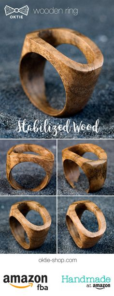 Wooden Rings, Wooden Jewelry, Resin Jewelry, Jewelry Crafts, Wood Gift Box, Wood Gifts, Diy Jewelry Making Tools, Stabilized Wood, Urban Jewelry