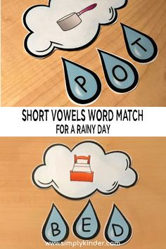 Free printable short vowels worksheets. Short vowel sounds letter matching. #freeprintable #kindergarten