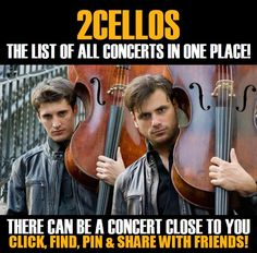 2Cellos in your city! Concerts dates & tickets. #music, #show, #concerts, #events, #tickets, #2Cellos, #rock, #tix, #songs, #festival, #artists, #musicians, #popular,  2Cellos