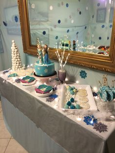 Frozen birthday cake table