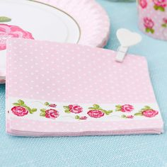 Shabby Chic Party Paper Luncheon Napkins 3ply £2.99 20pk