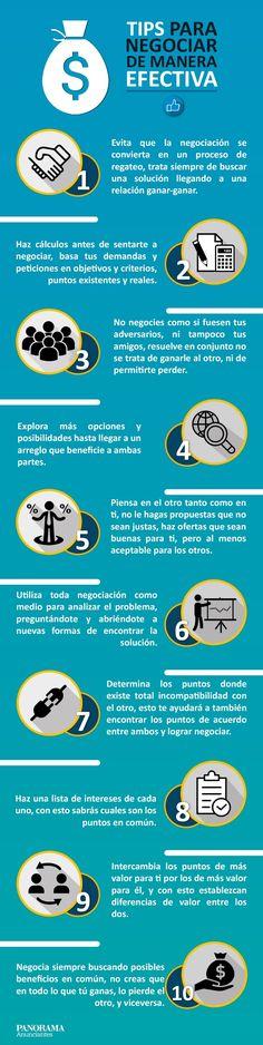 10 consejos para una negociación efectiva #infografia