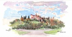 Online Tutorials, Pen And Watercolor, Teaching Art, Around The Worlds, France, Artist, Painting, Artists, Painting Art