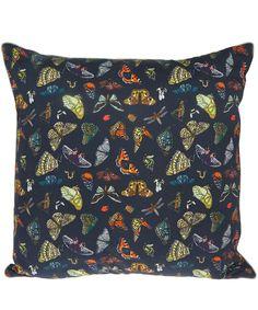Silken Favours Midnight Butterflies Silk Cushion | Home | Liberty.co.uk