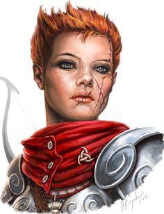 Knight woman by Miguel Regodon