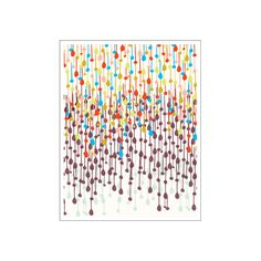 We might get plenty of rain here in Seattle, but you can't get tired of this colorful raining candy wall art!