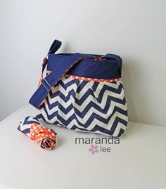 Stella Chevron Diaper Bag Set with Changing Mat Pad by marandalee, $109.00