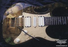 Ibanez jem custom steve vai inspired paintwork i love you to the